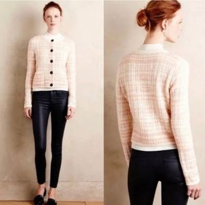 Anthropologie Knitted & Knotted Boucle Cardigan